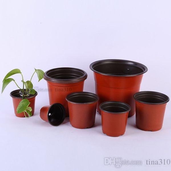 Nouveau pot de fleurs bicolore, pot de fleurs en plastique pour semis, repiquage de pot de fleurs résistant à l'usure, articles de jardinage de maison T2I5075