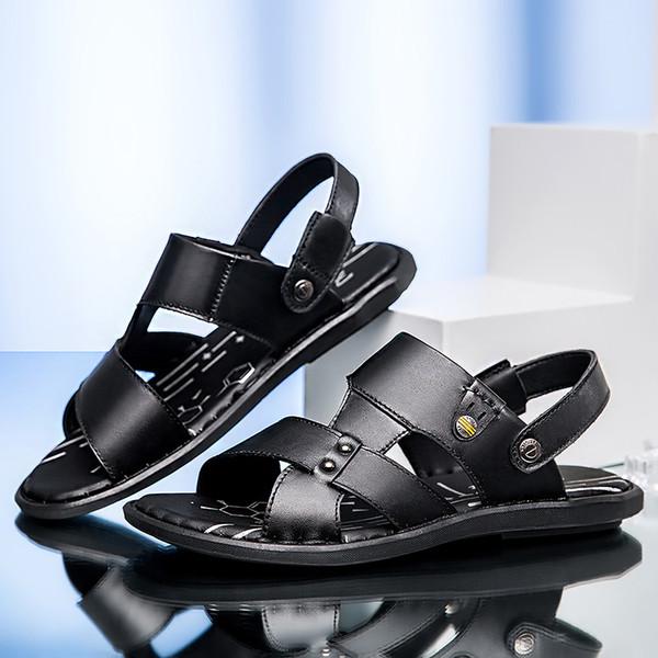 sandali degli uomini per gli uomini sandali di cuoio genuini outdoo Scarpe maschili di alta qualità di moda slip on confortevoli appartamenti scarpe p4
