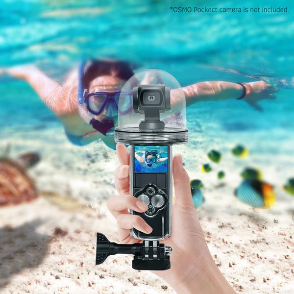 Professionelle Tauchen Unterwassergehäuse Schutzkameragehäuse 360 ° Aufnahmeunterwasser 60M / 197ft für DJI OSMO Pocket-Kamera