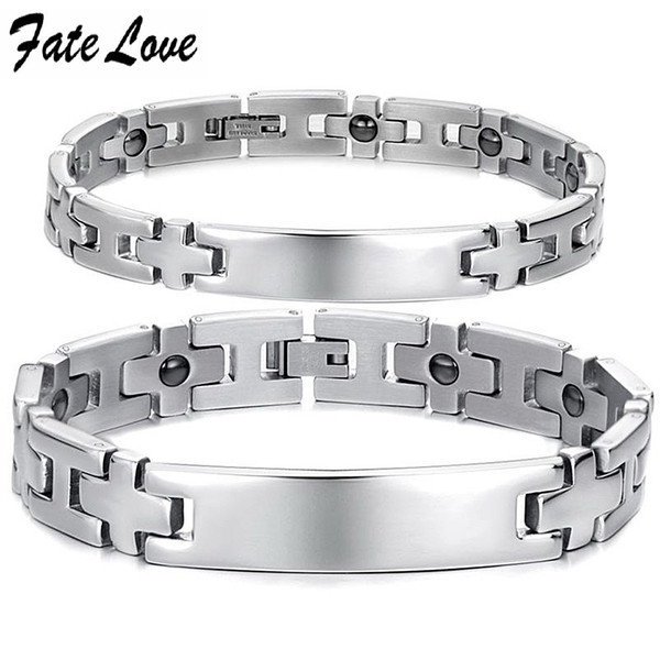 bead Customerized Engraved Jewelry fashion anti-fatigue health care chain lovers bracelet gs8403 bracelet k