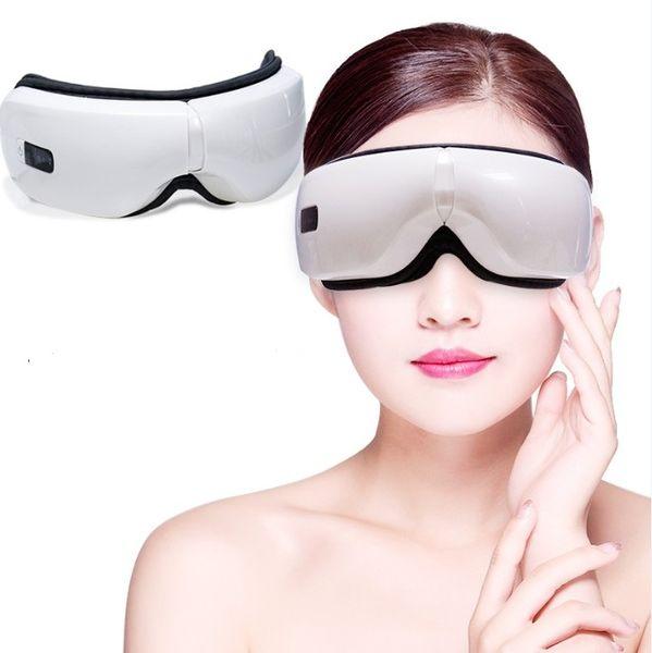 Устройство Электрические вибрации Bluetooth глаз Массажер Уход за глазами Усталость Сбросьте вибрации Массаж горячий компресс терапии очки