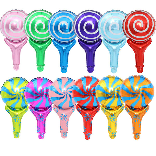 holiday candy sugar hand stick balloons helium flying Foil Balloons Inflatable Toys Party Decorations Kids Helium Balloons manufacturer