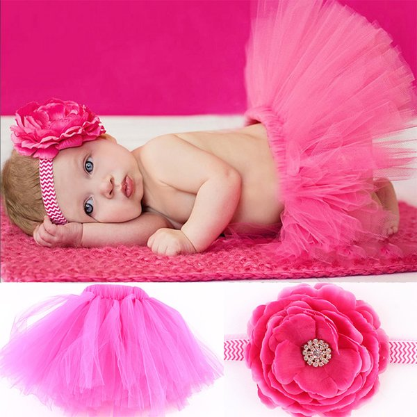 Hot Sell Baby Girls Skirt Cute Tulle Tutu Skirt Newborn Photography Props Bowknot Baby Tutu Gift for 0-6 Months Kid 1