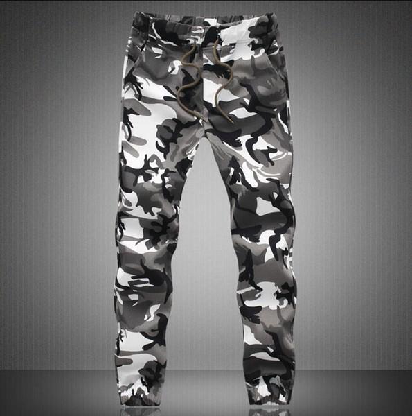 Wholesale-M-5X 2016 Mens Jogger Autumn Pencil Harem Pants Men Camouflage Pants Loose Comfortable Cargo Trousers Camo Joggers