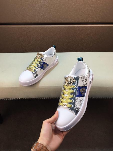 2019t новая мужская кожаная печатная повседневная обувь, стильная и удобная обувь с