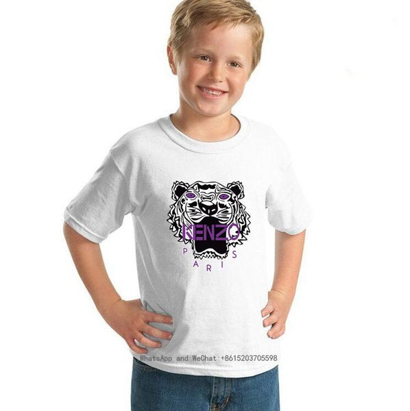 fenash10 / Children Cotton Short Sleeve T cute brand T-shirt Girl Pure Cotton Half Sleeve T-shirt In Large Child 0317