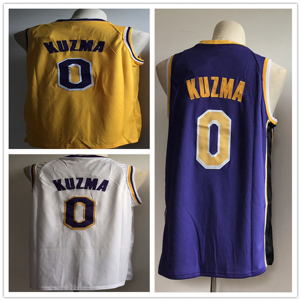 sale retailer 9564b 944b9 2019 Kyle 0 Kuzma Men'S Basketball Jerseys 2018 New Season Fashion Mens  Polo Shirt White Yellow Purple Men Sport Jersey From Basketballjersey_1, ...