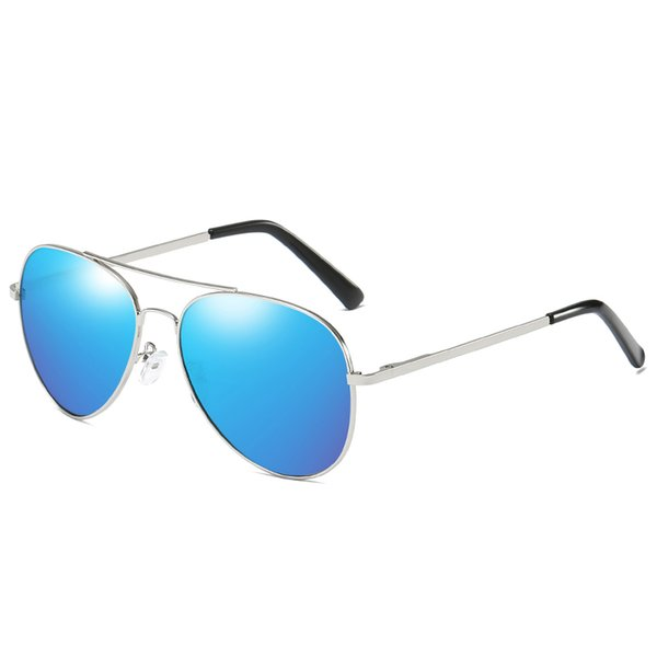 Silver frame ice blue