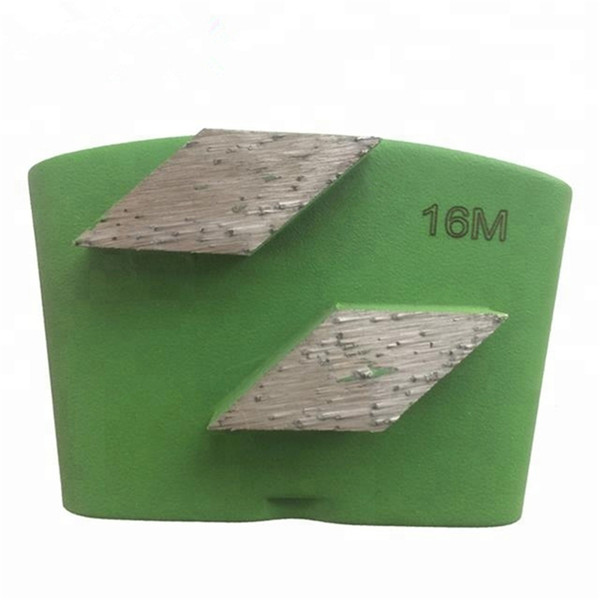 best selling KD-H30 Top Quality HTC Diamond Grinding Shoes Diamond Grinding Plates with Two Rhombus Segments for Concrete Floor Renovation 12PCS