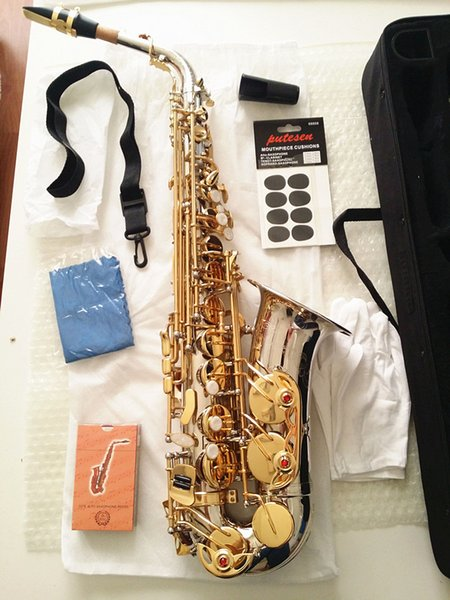 Brand NEW Saxophone YANAGISAWA A-WO37 Alto Saxophone Nickel Plated Gold Key Professional Sax Mouthpiece With Case and Accessories