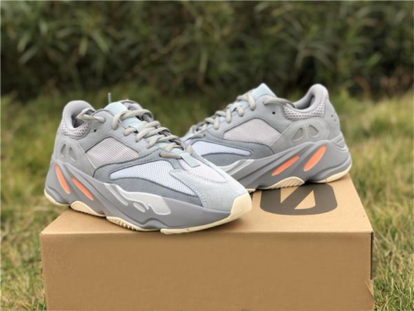 2019 Auténticos 700 V2 Inercia Kanye West Zapatos al aire libre para hombres Mujeres Runner Wave Malva Estático Gris EG7597 Inertia Geode Athetic zapatos