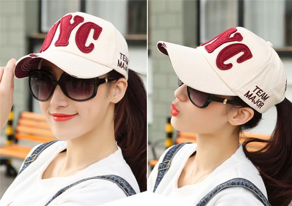 Güney Kore sopa bez NYC beyzbol şapkası hipster erkek ve kadın çiftler rahat güneş gölge şapka kap ördek kap bahar ve yaz gelgit şapka