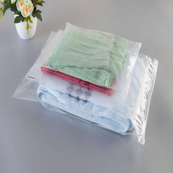 Горячая продажа 11 видов размеры Pe прозрачная молния сумка многоразовые пластиковый мешок одежда сумка для хранения ювелирных изделий упаковка сумки