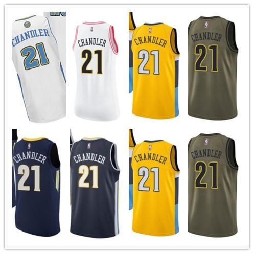 low priced e10c3 3d151 2019 Custom Best 2018 Basketball Wear Men'S Denver Nugget#21 Wilson  Chandler Swingman Yellow Jersey City Edition Basketball Jerseys From  Gjybest002, ...