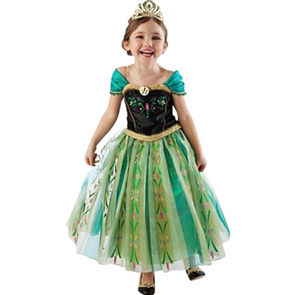 Compre Vestido Para Niñas Cosplay De Dibujos Animados Vestidos De Reina De La Nieve Vestidos De Princesa De Disfraces Ropa Para Niños Bebés Ropa Para