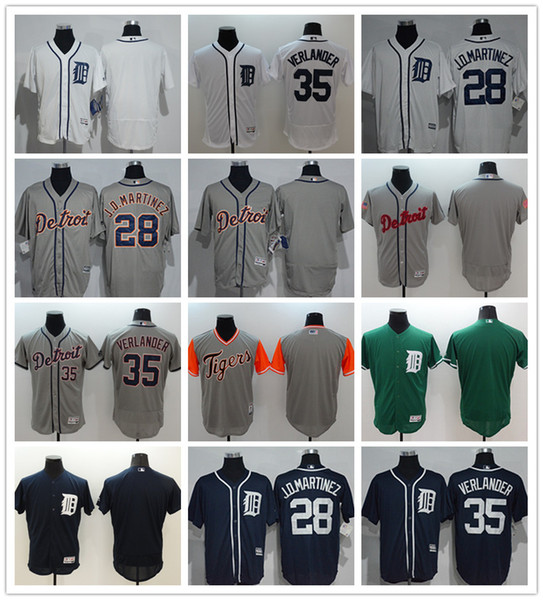 2019 custom Detroit Men's women youth Majestic Tigers Jersey #28 J. D. Martinez 35 Verlander Home Baseball Jerseys