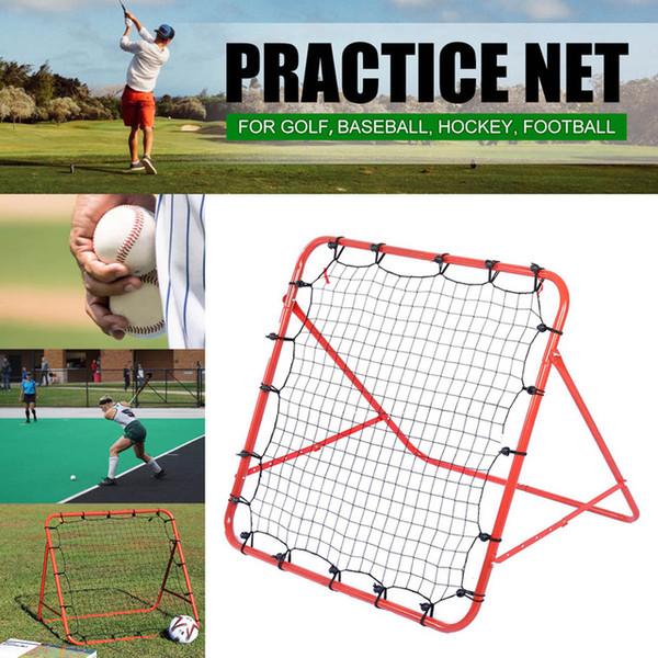Futbol Ribaund Mesh Net Ayarlanabilir Geri Tepme Hedef Gol Beyzbol golf uygulama net hokey ribaund kapı Futbol Eğitim ekipmanları