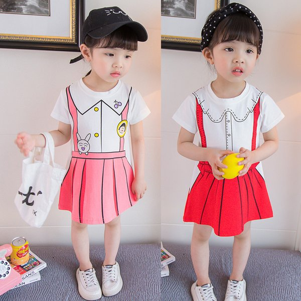 d761a02fbe1c 2019 new female baby summer dress 1-3 years old 4 girls foreign princess  dress