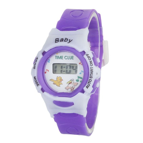 Hot Selling Children Watches Digital Casual Unisex Student 5 Style Silicone Strap Wristwatches Popular Clock Random delivery@50