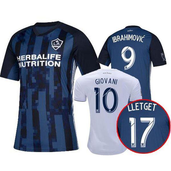 2019 2020 LA Galaxy Soccer jersey 2019 IBRAHIMOVIC Jersey 19 20 Los Angeles Galaxy Camisa GERRARD GIOVANI BECKHAM DOS SANTOS KAMARA maglia piede