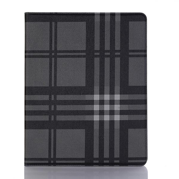 Moda Simples Estilo Xadrez Escudo para Ipad Pro Series Caso com Suporte e Flip Fold para ipad air couro ultra-fino para ipad mini 3 4 capa