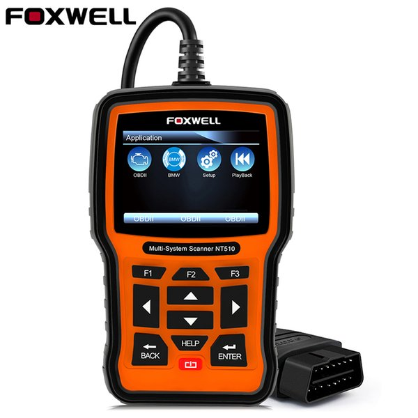FOXWELL NT510 Full System OBD2 Car Diagnostic Tool Automotive Scanner ABS Airbag Crash Date Oil Reset DPF BMS ODB2 OBD 2