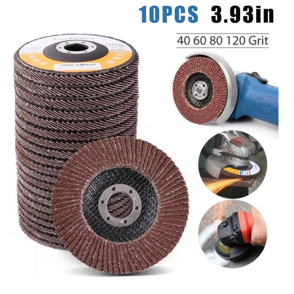 "10Pcs 5/"" 125mm Flap Discs Wheels Grinding Sanding For Angle Grinder 80 Grit New"