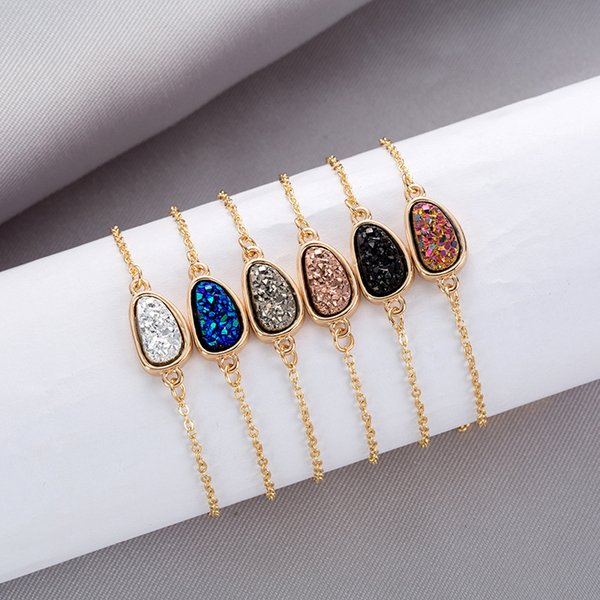 10 Color Design Women Bracelets Water Drop Diamond Jewelry Female Bracelet Crystal Cluster CHarm Bracelets Natural Crystal Stone Ornaments