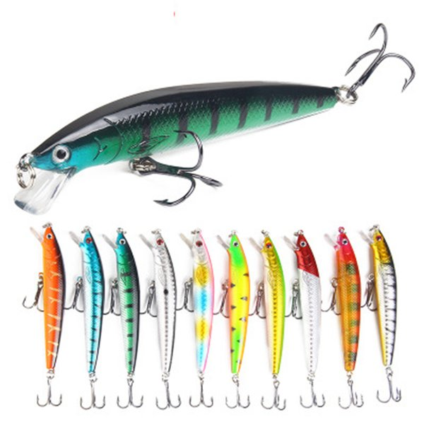 best selling 10cm 7.5g Hard Bait Aritificial Wobblers Minnow Fishing Lure Floating Pesca Bait Fish Lures LJJZ374