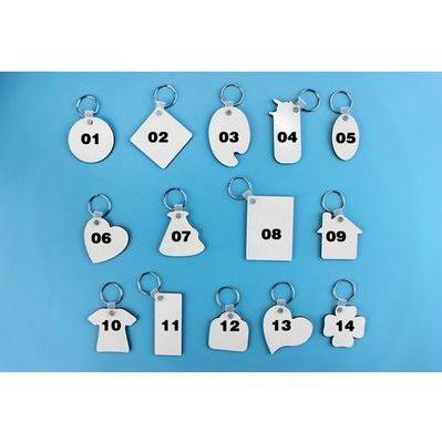 best selling Blank keychains For Sublimation Mdf Heart Round Love Key Chain Iewelry Thermal Transfer Printing DIY Blank Material Consumables MDF EEA1649
