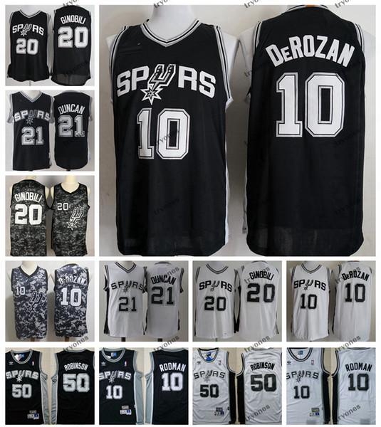 the best attitude 8ec84 3ecc1 2019 2019 San DeMar DeRozan 10 Antonio Manu Ginobili Spurs City Camo Tim  Duncan Basketball Jersey Vintage David Robinson 50 Dennis Rodman Shirts  From ...