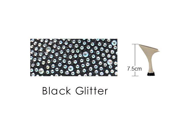 Black Glitter 75mm