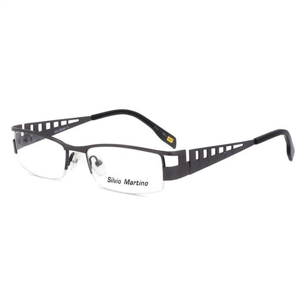 Retro Half rim Metal Eyewear Glasses Hollow Bone Design For Man Woman teenager Optical Frame Wholesase Price Free Shipping SM4019