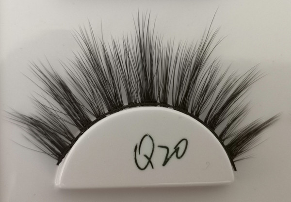 Q20 False eyelashes 3D chemical fiber 0.07 soft natural realistic custom brand custom packaging handmade wholesaler