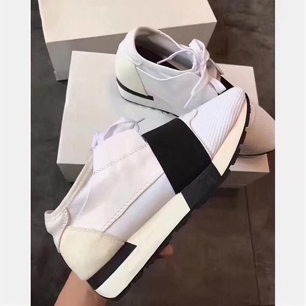 Лучший дизайнер унисекс Zapatos Mujer конкуренции кроссовки мужчин и женщин повседневная обувь кожаные сетки носок спорта шнурков коробка US5-12