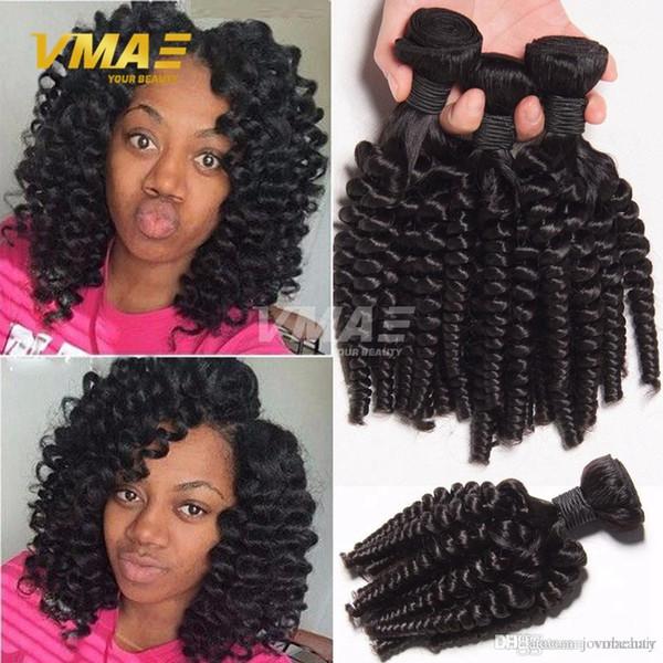 3 Demetleri Fırsatlar Afro Dalga Sapıkça Kıvırcık Saç Spiral Curl Örgü İnsan Saç Perulu Bakire Saç Afro Kıvırcık Dalga Kabarık Bukleler