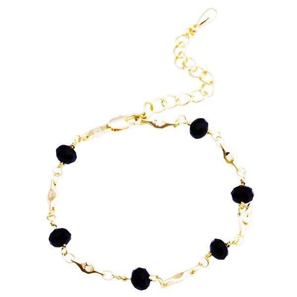 Punk nero perline cavigliera bracciali per donne ragazze estate sandalo cavigliera femminile catena della Boemia gioielli a piedi nudi