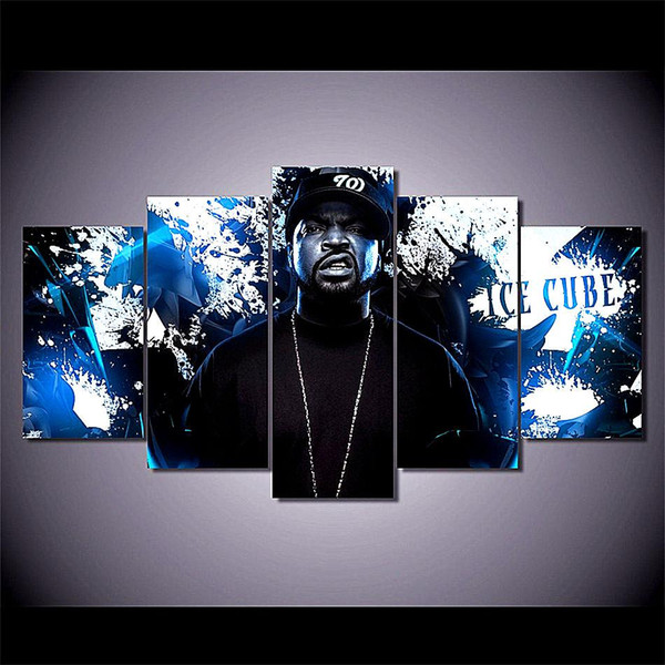 Ice Cube Rapper,5 Pieces Home Decor HD Printed Modern Art Painting on Canvas / Unframed / Framed