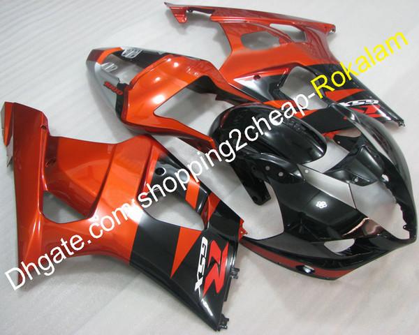 Partes de la motocicleta Carenados para Suzuki 2003 2004 GSXR1000 GSX-R1000 K3 03 04 GSXR 1000 Naranja Carenado negro (moldeo por inyección)