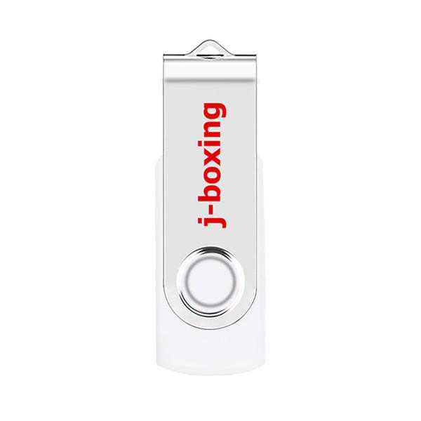 White Metal Rotating 64GB USB 2.0 Flash Drives 64gb Swivel Flash Pen Drive Enough Memory Stick for PC Laptop Macbook Tablet Thumb Storage