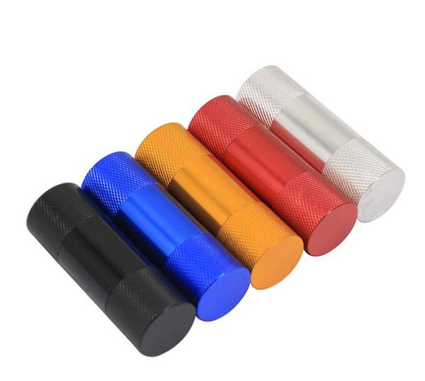 2018 new multi-color aluminum alloy cigarette maker portable detachable mini cigarette lighter small smoking wholesale
