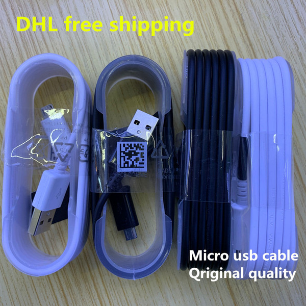 2019 Mejor Venta de 1,2 m 2.4A cable Micro USB cable de carga rápida para Samsung Galaxy S4 S6 Nota 4 5 cable de la fecha de envío gratuito