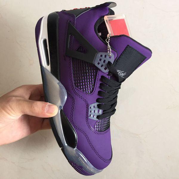 2018 Трэвис Скоттс х 4 4S кактус Джек IV фиолетовый синий баскетбол обувь спортивные к