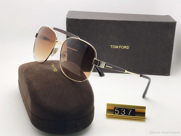 Brand Designer Sunglasses High Quality Metal Hinge Sunglasses Men Glasses Women Sun glasses UV400 lens Unisex with cases and box 618-7