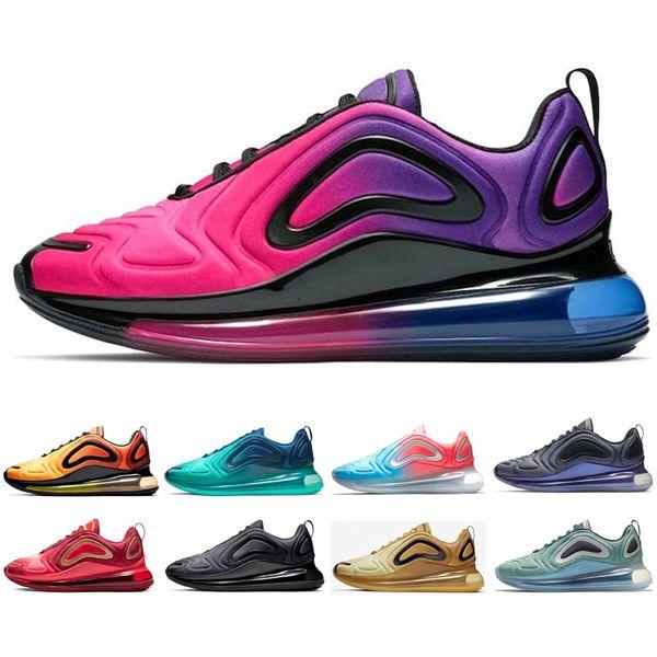 Acheter Nike Air Max 720 Shoes Haut Coucher Du Soleil Chaussures De Course Pour Hommes Classiques Femmes Mer Forêt Désert Designer Baskets Triple