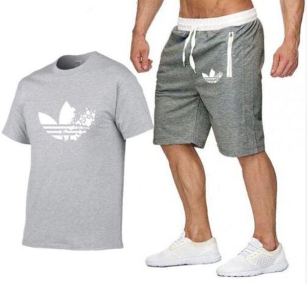 2019 Nuevos Juegos de Camiseta para Hombre Batman Impreso Trajes de Verano Camiseta Casual Hombre Diseñador Chándales Conjunto Hombre T-shirt + shorts ropa de moda