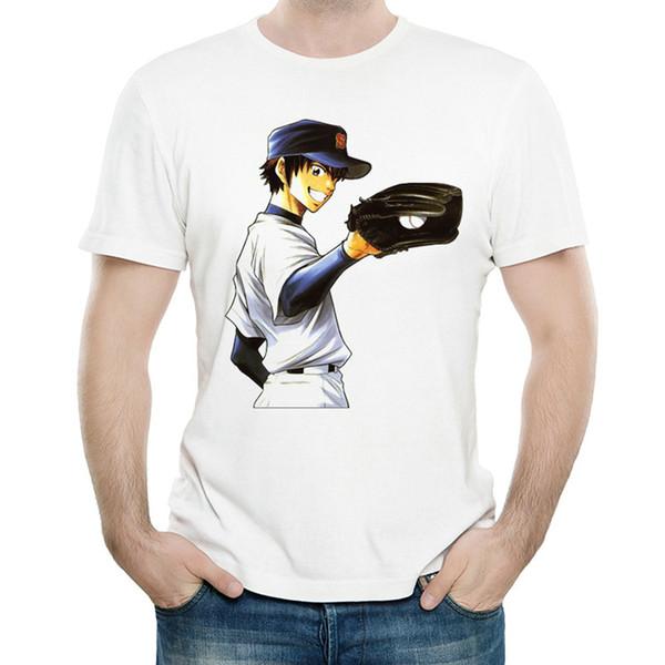 Sawamura Eijun футболка Туз Алмазный движущийся мяч с коротким рукавом Бейсбол colorfast печати тройники унисекс одежда блеклые модальные футболки