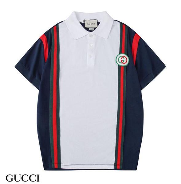 Cheap Color matching guc t shirt men and women tshirt man summer streetwear short sleeve t-shirt womens Couple wearing shirt homme