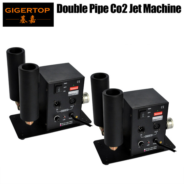top popular TIPTOP Stage Light 2 x LOT Mini Size Co2 Cryo Jet with Double Side Jet Nozzle DMX512 Hand Control 2 Channels Co2 Fog Cooling System 2021