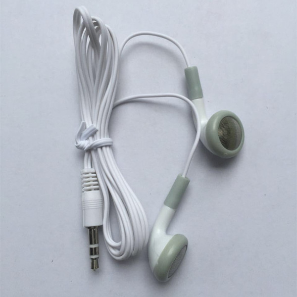 best selling Cheapest Disposable Earphone Low Cost Earbuds 3.5mm music Headphone Headset mp3 mp4 For apple nano iphone cell phone